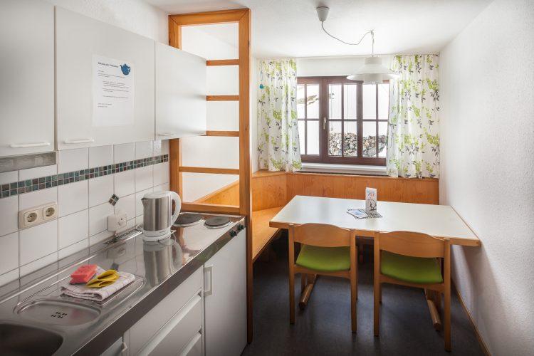 Appartement Küche im Bergheim Unterjoch