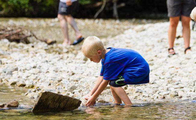 Flusswanderung am Bergheim Unterjoch