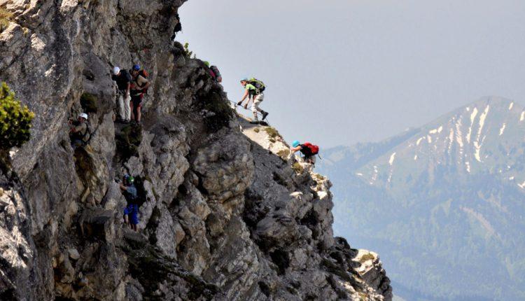 Klettern in den Bergen um das Bergheim Unterjoch