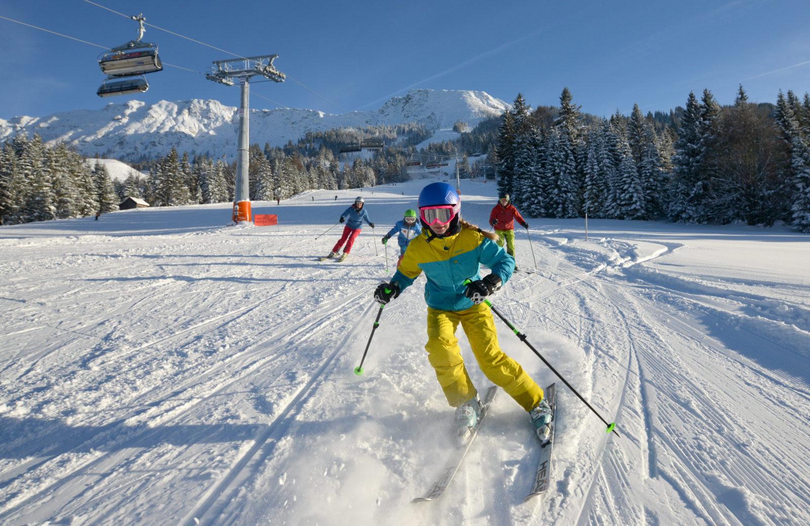 Skifahren am Bergheim Unterjoch