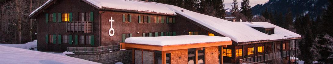 Das Bergheim Unterjoch im Winter