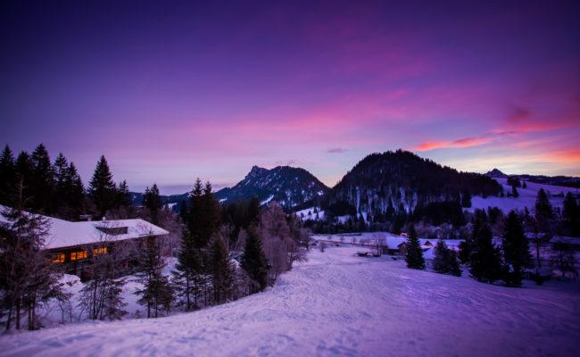 Winterpiste am Bergheim Unterjoch